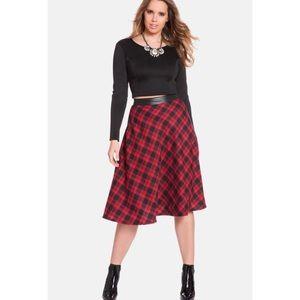 Eloquii Plaid Midi Skirt
